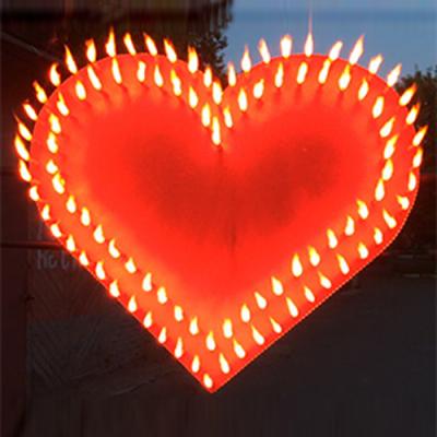 Огненное сердце в 2 контура (450 х 400 мм.) — Огненные сердца купить: Москва интернет магазин   piro.ru